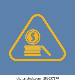 vector illustration of business and finance icon dollar coins