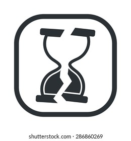 vector illustration of business and finance icon time is money broken