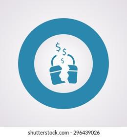 vector illustration of business and finance icon padlock broken