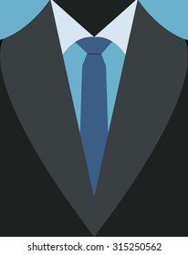Vector illustration of business men's suit
