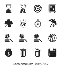Vector illustration of business set icon