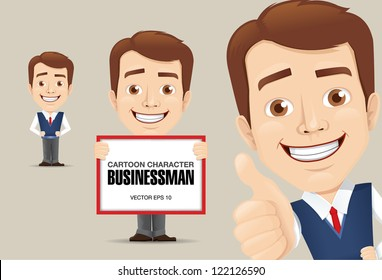 Vector illustration of Businessman Cartoon Character