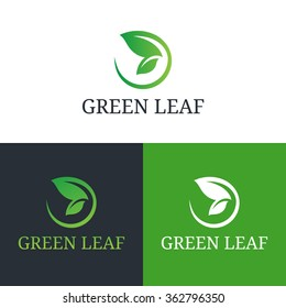 Vector illustration butterfly wing leaf. Health care, beauty, domestic or natural food logo template.