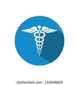 Vector illustration of caduceus medical symbol