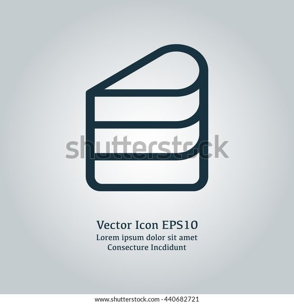 Vector illustration of cake piece icon