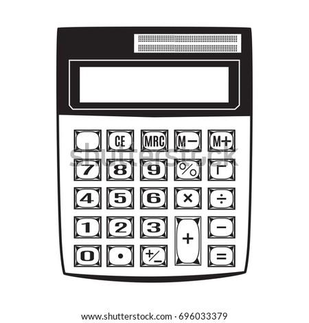 Calculator Template | Vector Illustration Calculator Electronic Black Calculator Stock