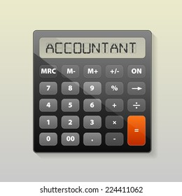 Vector illustration of Calculator image
