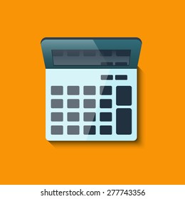 Vector illustration of Calculator image Top view