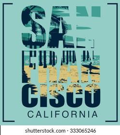 vector illustration california coast drawing.