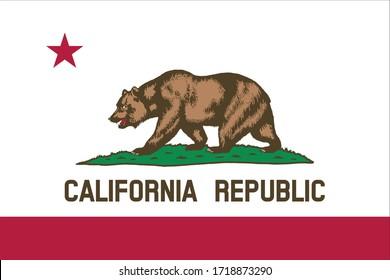 vector illustration of California flag