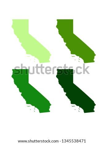 California Map Shutterstockcom.Vector Illustration California Maps Stock Vector Royalty Free