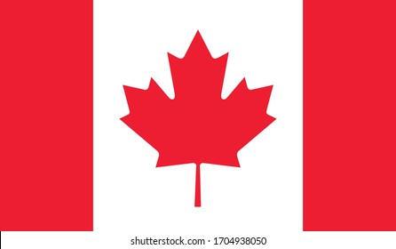 vector illustration of Canada flag