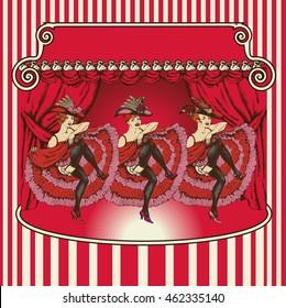 Vector illustration of a cancan dancer