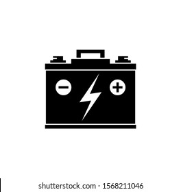 Vector illustration of a car battery on a white background
