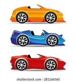 Vector illustration. Car icons.