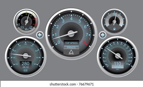 vector illustration car instrument panel eps10