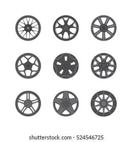 Vector Illustration of Car Rims