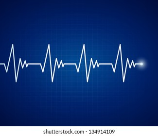 Vector Illustration of a  Cardiac Frequency