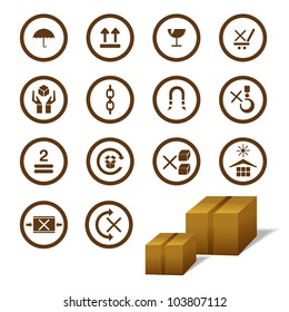 vector illustration of cargo symbol with cardboard box