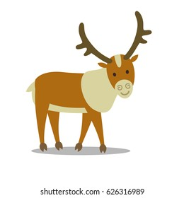 Vector Illustration of a Caribou