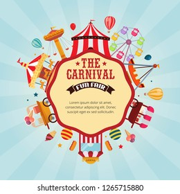 Vector illustration carnival fun fair