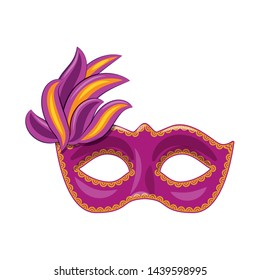 Vector illustration of carnival and theatrical icon. Collection of carnival and mystery stock vector illustration.
