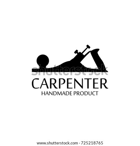 Vector Illustration Carpenter Design Element Logo Stock Vector