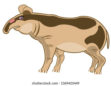 Tapir Cartoon Images, Stock Photos & Vectors | Shutterstock