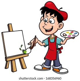 Cartoon Painting Images Stock Photos Amp Vectors Shutterstock