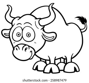 cartoon bull images stock photos vectors shutterstock Steers Steer Horns On A vector illustration of cartoon bull coloring book