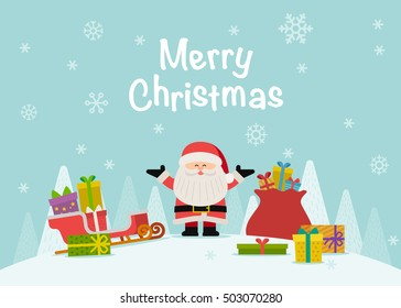 Vector illustration - Cartoon character Santa Claus