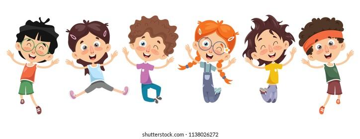 Vector Illustration Of Cartoon Characters