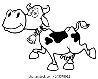 Cow Colouring Images Stock Photos Vectors Shutterstock