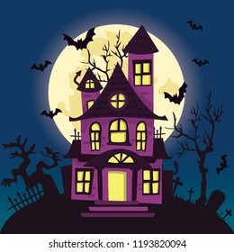 Halloween Spooky House.Haunted House Images Stock Photos Vectors Shutterstock