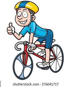 Vector illustration of Cartoon Cyclist