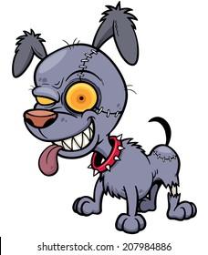 Vector illustration of Cartoon Dog zombie