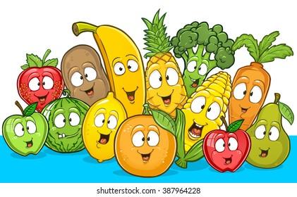 Cartoon Fruit Images Stock Photos Vectors Shutterstock