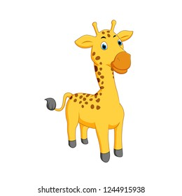 vector illustration of a cartoon giraffe