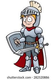 Vector illustration of Cartoon knight