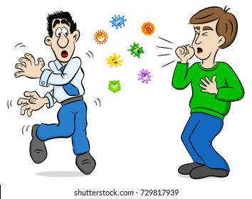 cough cartoon images stock photos vectors shutterstock https www shutterstock com image vector vector illustration cartoon man coughing surrounded 729817939