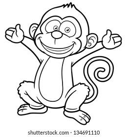 banana coloring book Images, Stock Photos & Vectors   Shutterstock