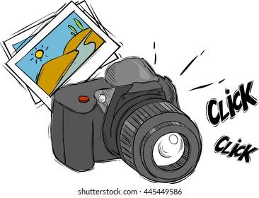 cartoon camera images  stock photos   vectors shutterstock Teddy Bear Outline Vector California Bear Vector