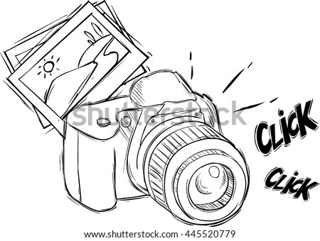 Vector Illustration Cartoon Photo Camera Stock Vector Royalty Free