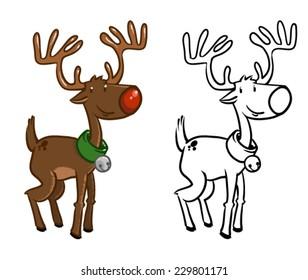 Royalty Free Reindeer Cartoon Images Stock Photos Vectors