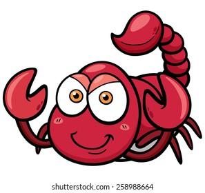 Vector illustration of cartoon scorpion
