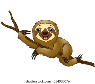 cartoon sloth images stock photos vectors shutterstock rh shutterstock com sloth clipart cute sloth clipart image