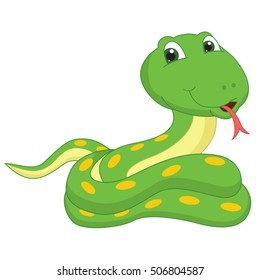 Vector Illustration Of A Cartoon Snake