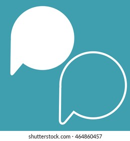 Vector illustration of cartoon speech and thought bubbles collection