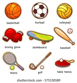 Vector illustration of Cartoon Sport vocabulary