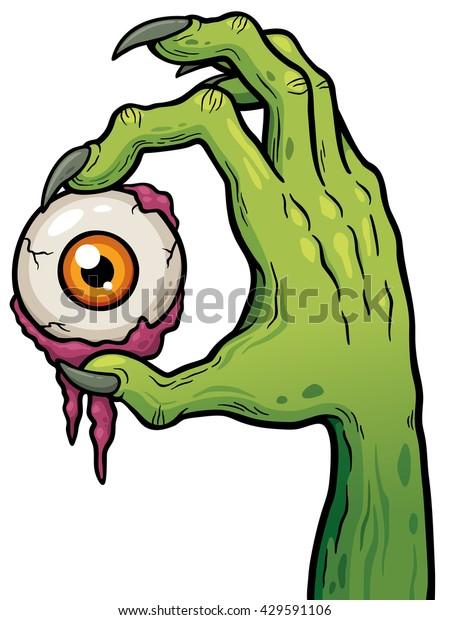 Image Vectorielle De Stock De Illustration Vectorielle Zombie Du Dessin Anime 429591106